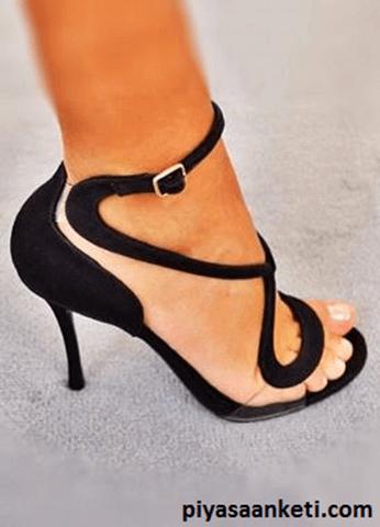 Dekolte topuku ayakkabılar sizi uzun gösterecektir