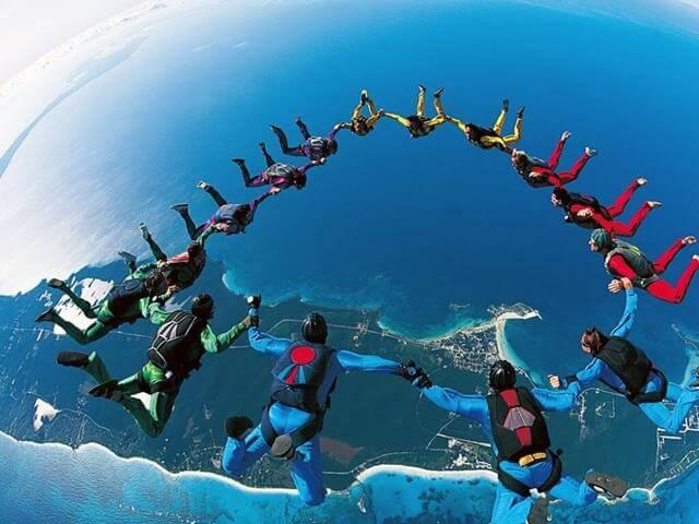 skydiving hobi