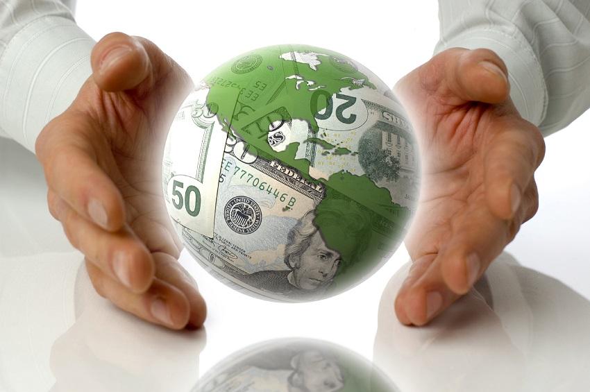 money makes the world go around concept