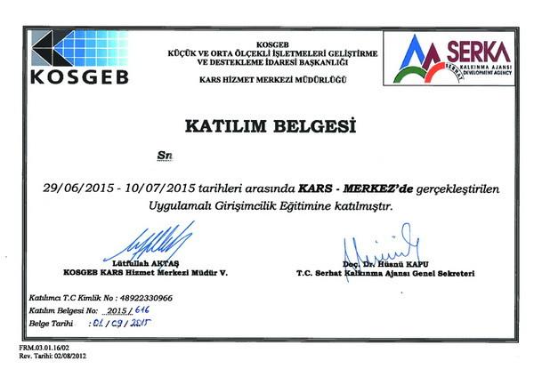 Girişimcilik sertifikası alma